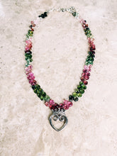 Load image into Gallery viewer, Queen of Hearts Chakra Harmony Watermelon Tourmaline Necklace