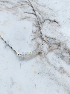 Fire Opal Bar Necklace