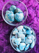 Load image into Gallery viewer, Blue Apatite Hearts