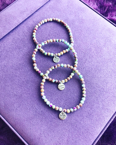 Galaxy Sea Sediment Jasper Stretchy Bracelet