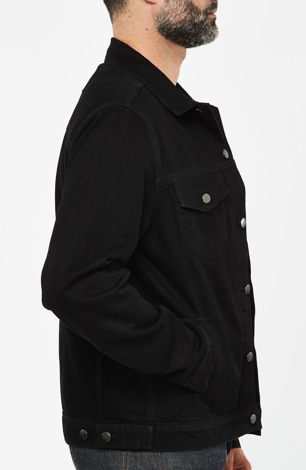 Luke Mother Trucker Jacket Black Rinse