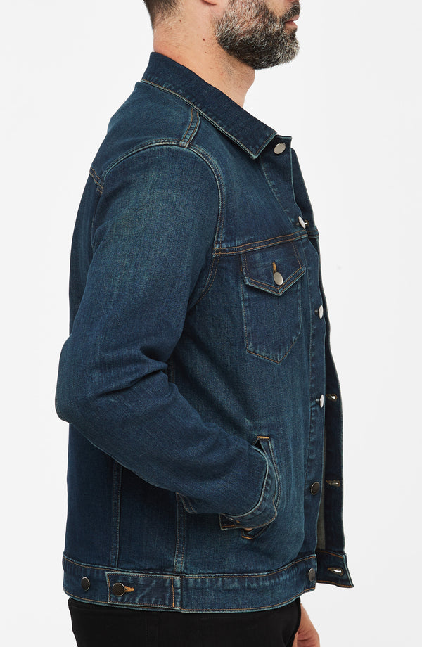 Luke Mother Trucker Jacket, Dark Wash