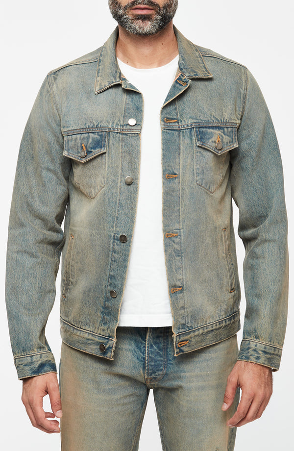 Luke Mother Trucker Jacket, New American Selvedge, Vintage Wash