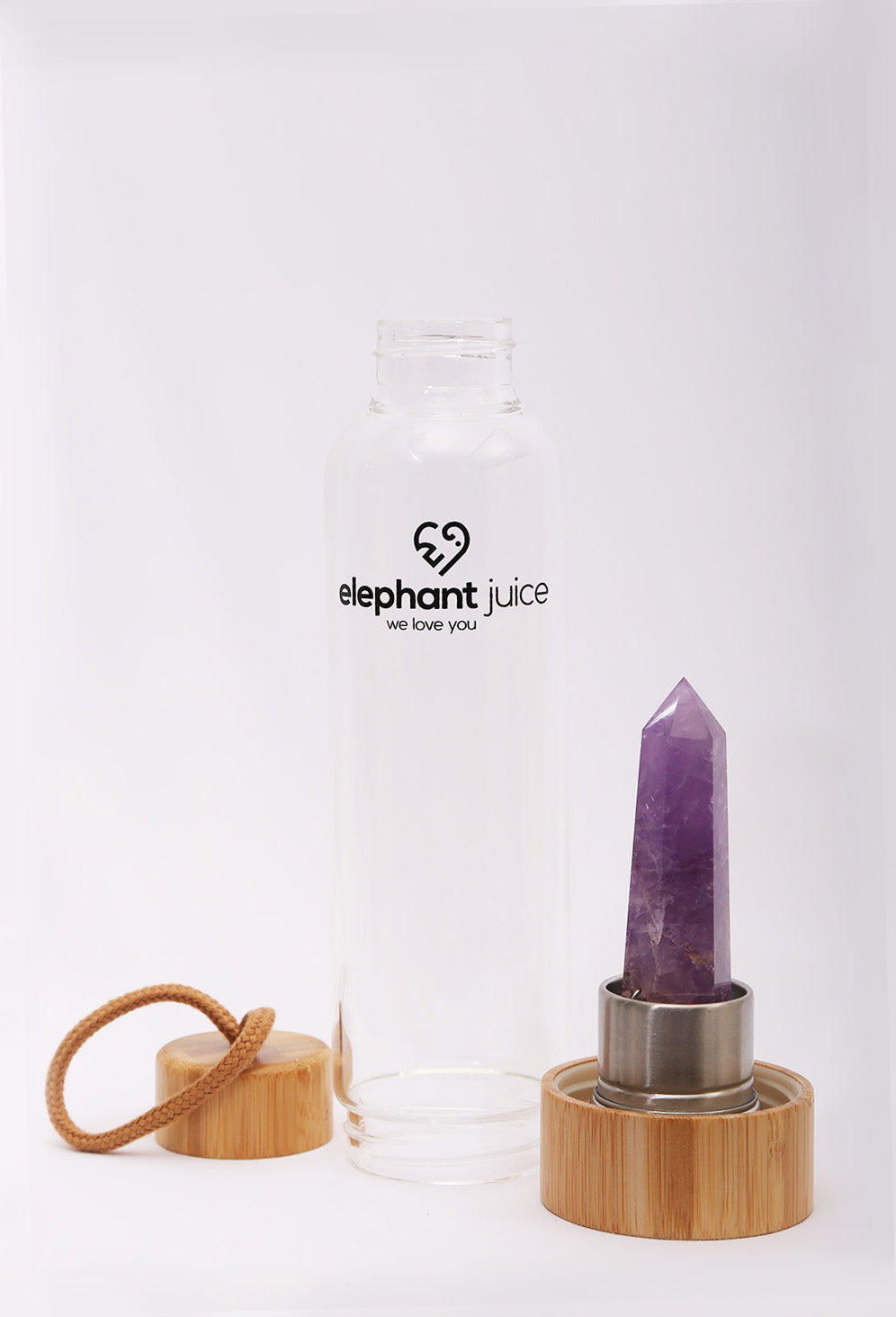 Amethyst Crystal Infused Water Bottle