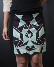 Load image into Gallery viewer, Geo Print Skirt Teal