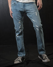 Load image into Gallery viewer, Hawks Bay Slim Light Distressed Denim