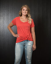 Load image into Gallery viewer, Bozzolo Studded Pocket Tee Orange (S-L).