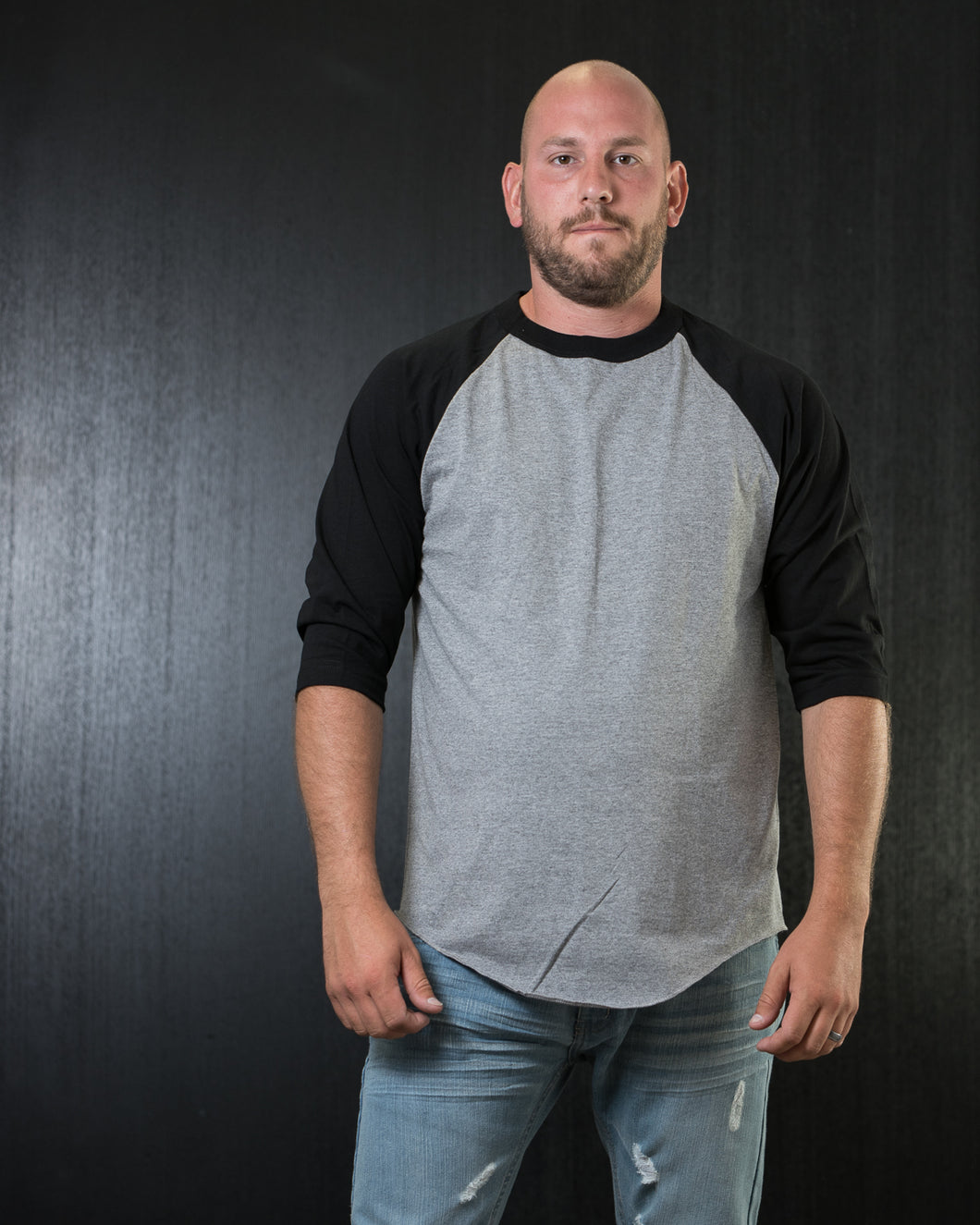 PRO Raglan Baseball Tee Grey/Black