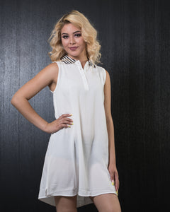 Mono B Polo Dress White