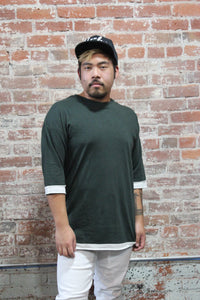 Kayden K Cut Edge 3/4 Sleeve Green