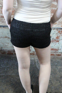 Beta House Lace Short Black