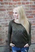 Load image into Gallery viewer, Desert Dreamer Olive Celestial Sweater