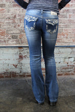 Load image into Gallery viewer, Denim Couture Medium Wash W/ Jeweled Pocket Button