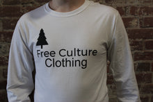 Load image into Gallery viewer, Free Culture Long Sleeve Black/White Logo