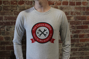 Free Culture Long Sleeve Gray W/Tools