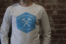 Load image into Gallery viewer, Free Culture Long Sleeve White/Blue Hammer