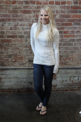 Zenana Turtle Neck Long Sleeve Ivory
