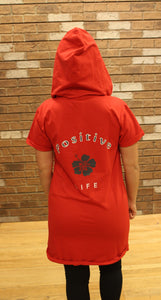Vivilish Positive Life Zip-Up Hoodie Red