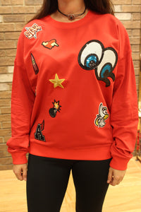 Vivilish Patch Overload Crew Sweater