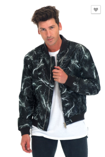 WEIV.LA Thunder Lightning Windbreaker Bomber Jacket