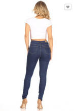 Load image into Gallery viewer, Denim Couture Red Women's Classic Skinny High-Rise Dark Wash 5 Button Denim (Sizes 0-15)