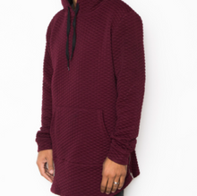 Load image into Gallery viewer, WEIV Diamond Knit Hoodie (Gray, Black or Maroon)