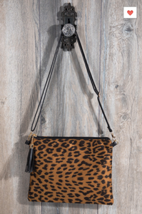 L.I.B. New York Animal Print Crossbody