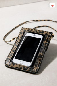 Beloved Leopard Print Cell Phone CrossBody