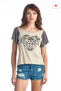 My LAnd Tribal Heart Graphic Tee