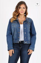 Load image into Gallery viewer, Beta House Plus Denim Jacket