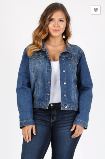 Beta House Plus Denim Jacket