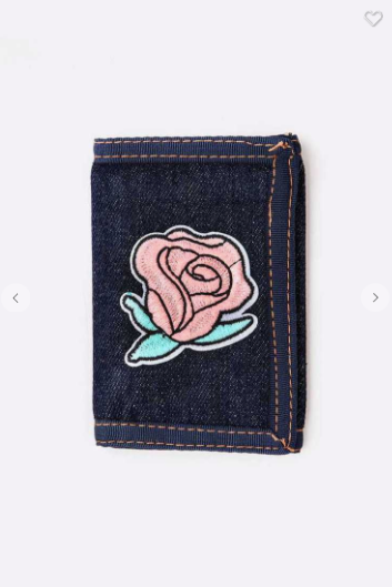 Denim Rose Wallet