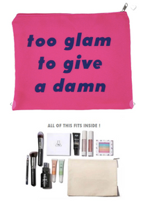 Fashion Cosmetic Pouch (Too Glam To Give A Dam)