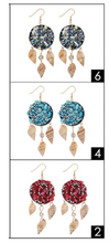 Load image into Gallery viewer, Sea Shell Dangle Earrings (Available in Teal, Red, & Pearl)