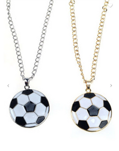 Soccer Pendant Necklace (Available in Gold or Silver)