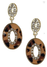 Load image into Gallery viewer, Leopard Dangle Earrings (Available in Grey, Light OR Dark Leopard)