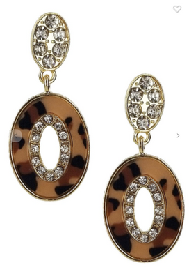 Leopard Dangle Earrings (Available in Grey, Light OR Dark Leopard)