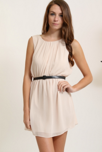 Beige Dress (Available in Sizes S-L)