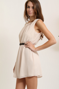 1 Funky Beige Dress (Available in Sizes S-L)