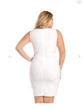 Load image into Gallery viewer, Xtaren Sleeveless Bodycon Dress White (Available in Sizes S-3XL)