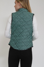 Load image into Gallery viewer, Rosette Padded Vest in Green/Black W/ Gold Buttons (Available in Sizes S-L)