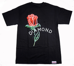 Diamond Neon Rose Tee