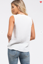Load image into Gallery viewer, Blu Pepper Sleeveless Woven Tank Off-White (Available in Sizes S-L)