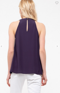 Blu Pepper Sleeveless Top Navy (Available in Sizes S-L)