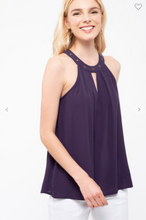 Load image into Gallery viewer, Blu Pepper Sleeveless Top Navy (Available in Sizes S-L)