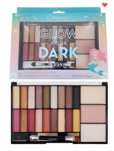 Load image into Gallery viewer, Glow And The Dark Cherimoya Eyeshadow & Highlight Mermaid Palette