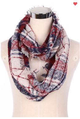 Plaid Infinity Scarves (4 Different Colors!)