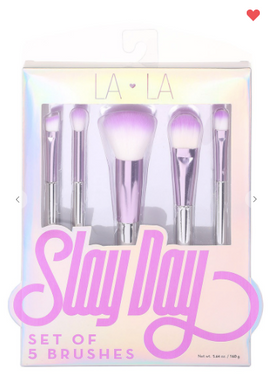Slay Day Brush Set Purple OR Rose Gold (Set of 5 Brushes)