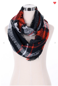 Fashion Infinity Scarf Plaid (5 Different Colors!)