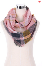 Load image into Gallery viewer, Fashion Infinity Scarf Plaid (5 Different Colors!)